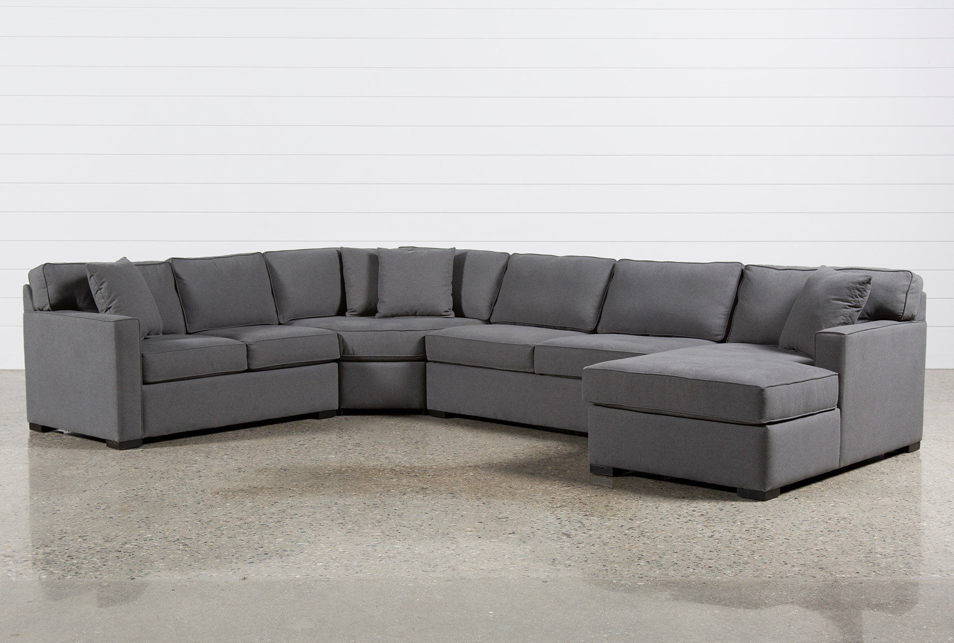 Best Alder Foam 4 Piece Sectional W Right Arm Facing Chaise 400 x 300
