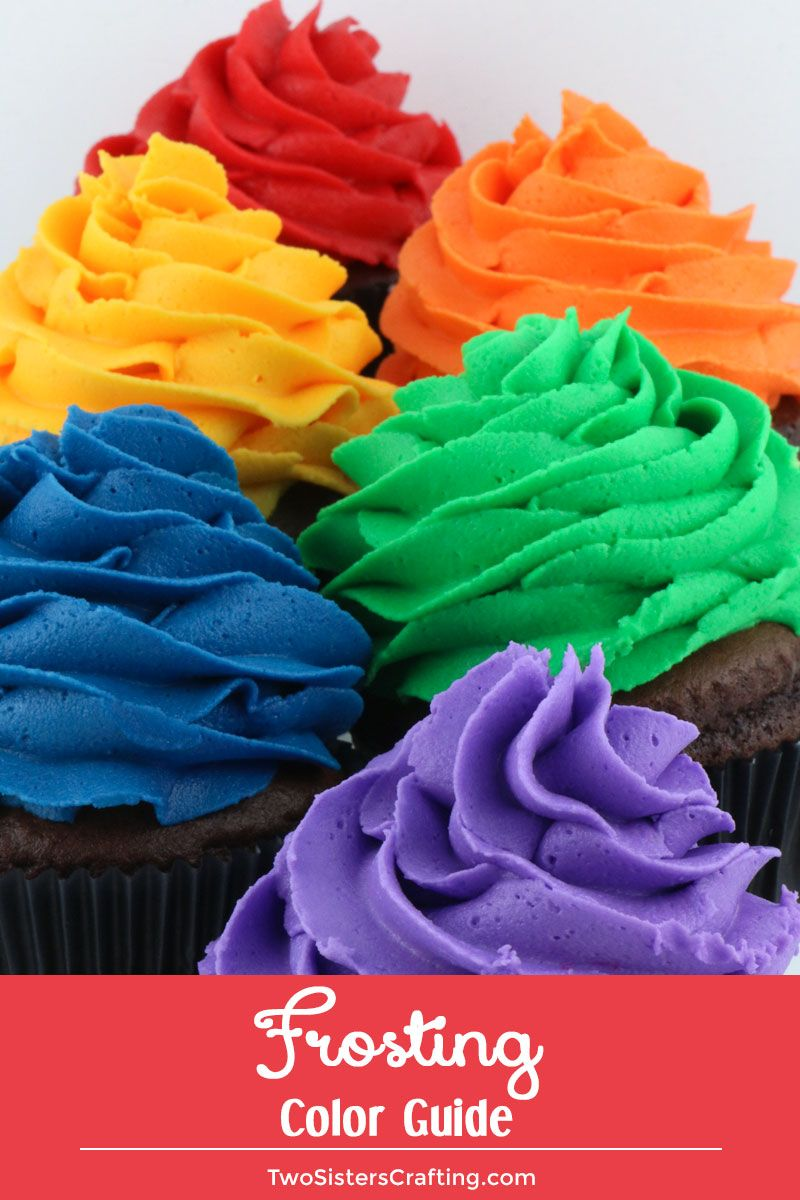Frosting Color Guide #cupcakefrostingtips