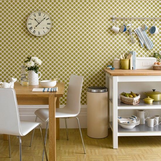 6 kitchen wallpaper ideas we love design for home pinterest rh pinterest com