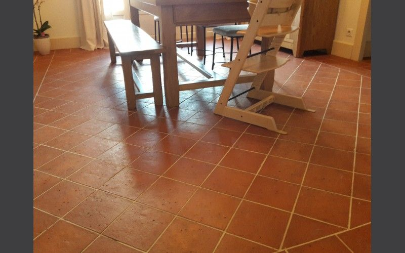 Carrelage int rieur terre cuite rouge carrelage terre for Carrelage sol interieur 20x20