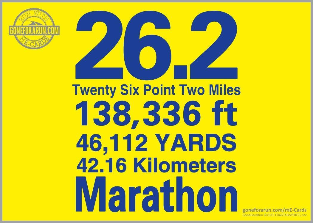 262 marathon miles me card