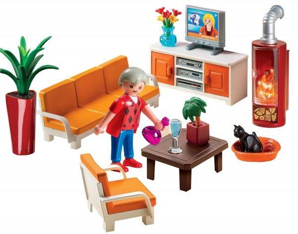 Playmobil salon avec chemin e au coin du feu for Salon du playmobile le mans