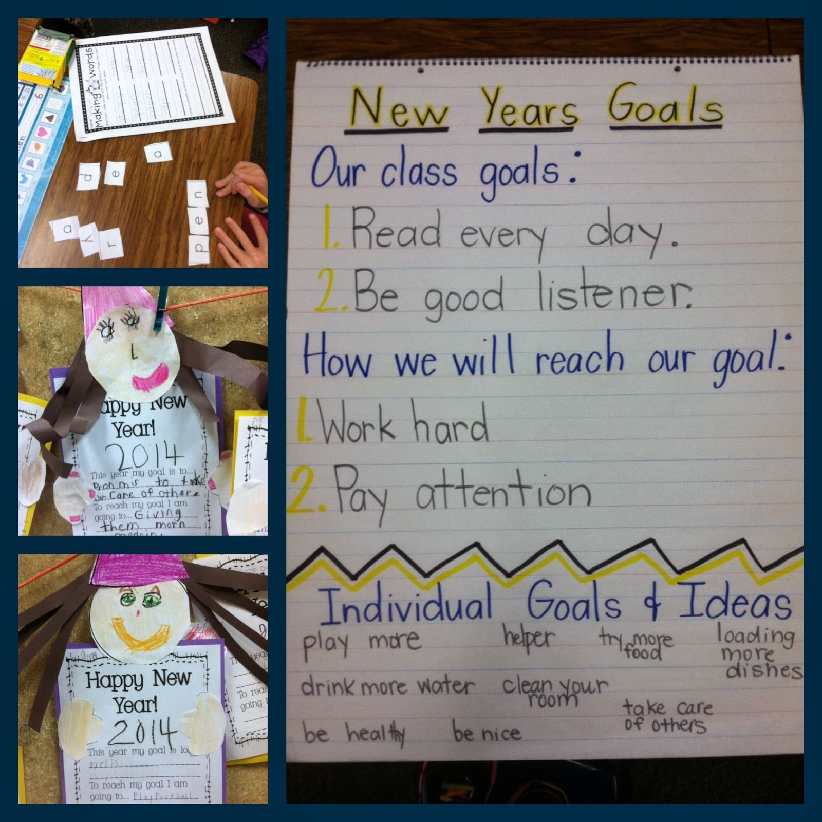 New Year Activities For First Graders Goals Resolutions