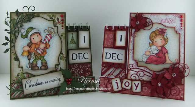 From My Craft Room Template for Advent-Calendar Card Inspiration