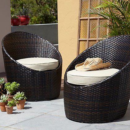Jakarta 2 Egg Bistro Chairs | Garden Furniture | George at ASDA ...