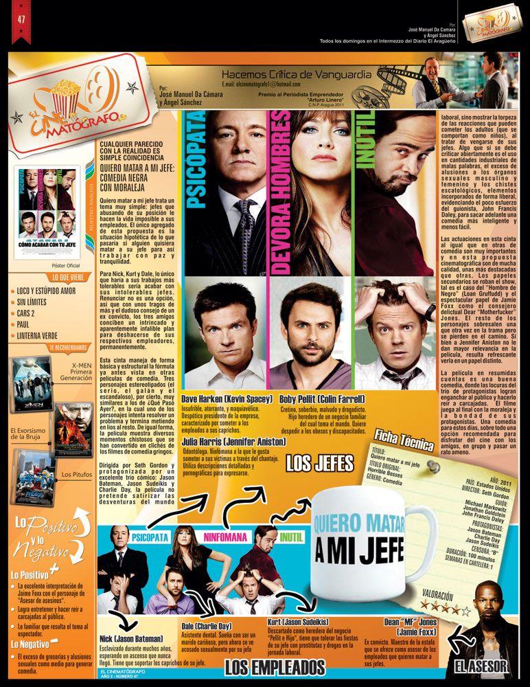 El Cinematografo No 47 Pelicula Quiero Matar A A Mi Jefe Movie Posters Event Movies