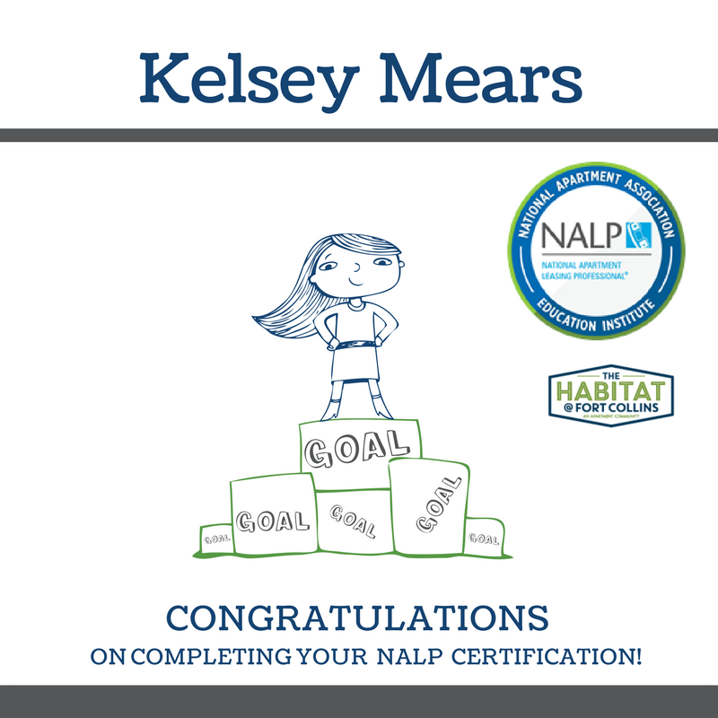 congratulations nalp leasing trinity thank hard career national kelsey manager apartment collins fort professional development facility management