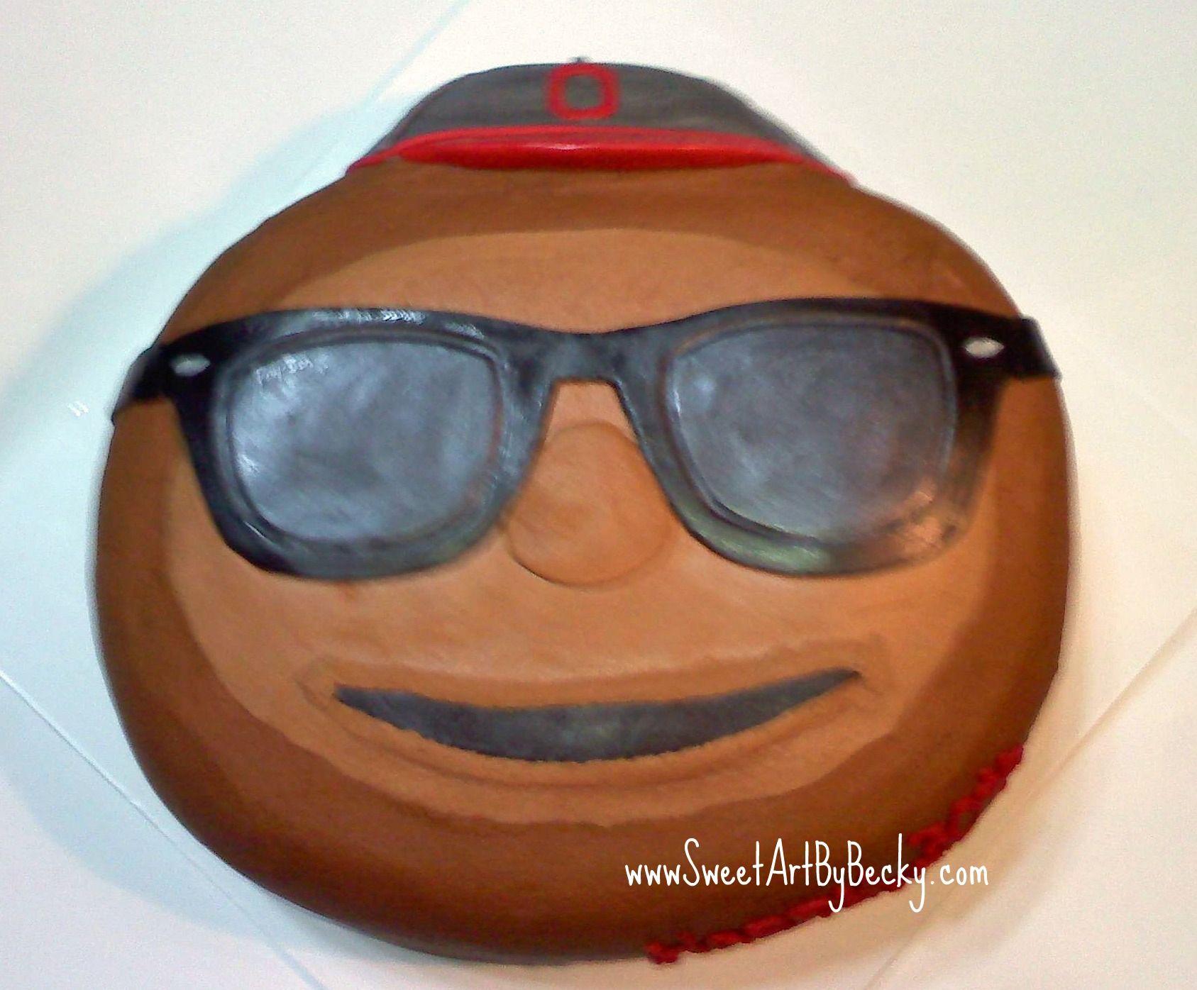Ohio state university brutus buckeye statue - Brutus Buckeye Ohio State Cake