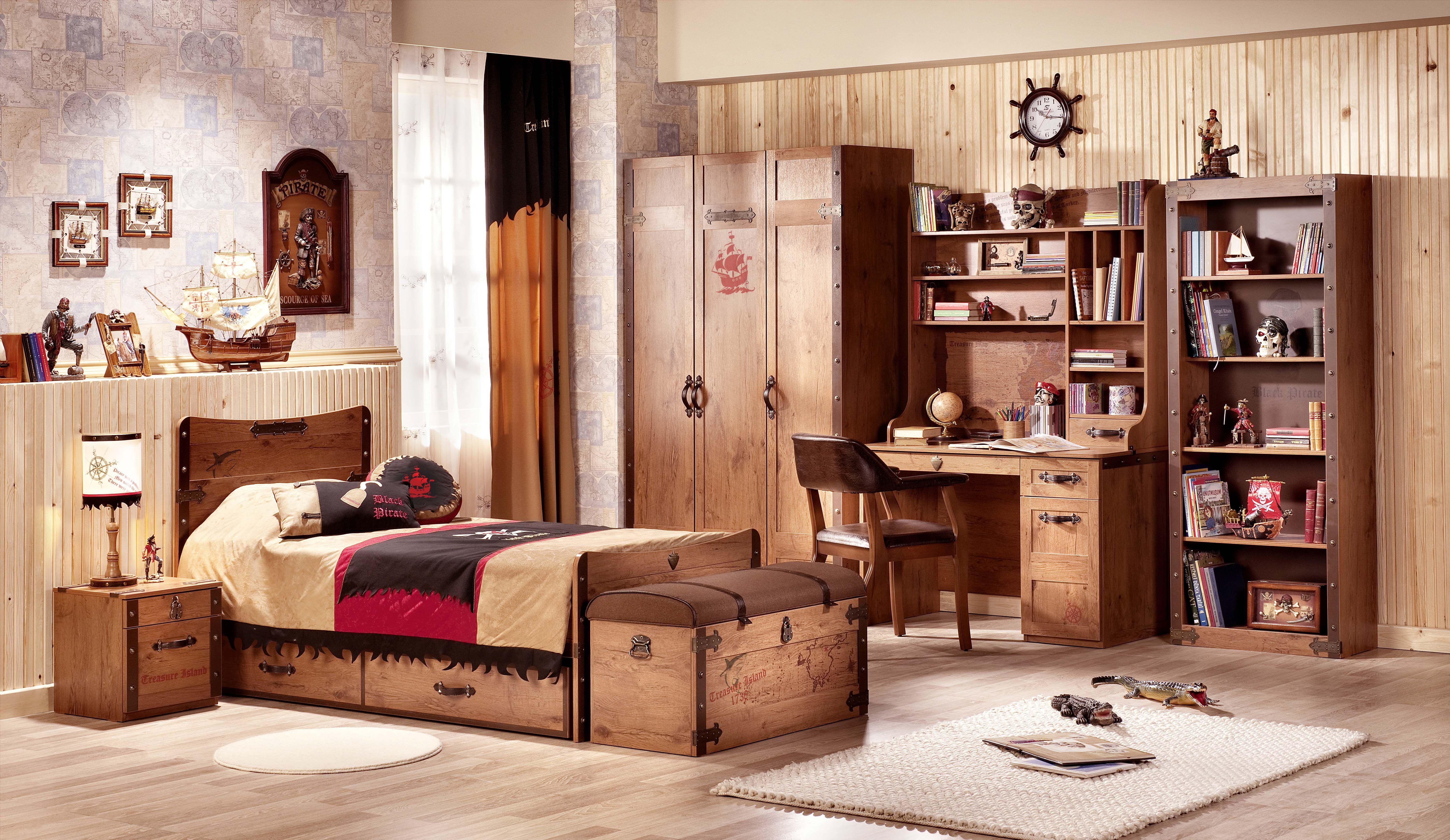 Habitaci N Pirata De La Serie Black Pirate De Cilekspain  # Muebles Infantiles Lupi Love