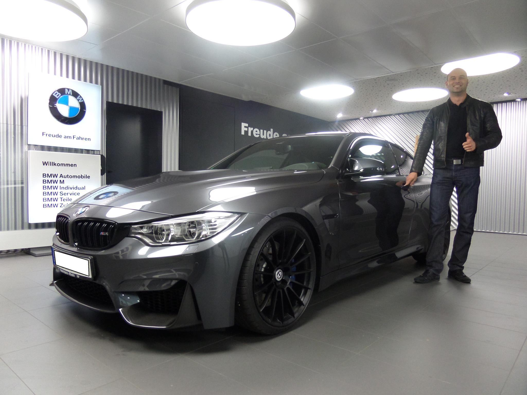 Grigio Telesto BMW M3 with FF01 in Liquid Black | BMW individual ...
