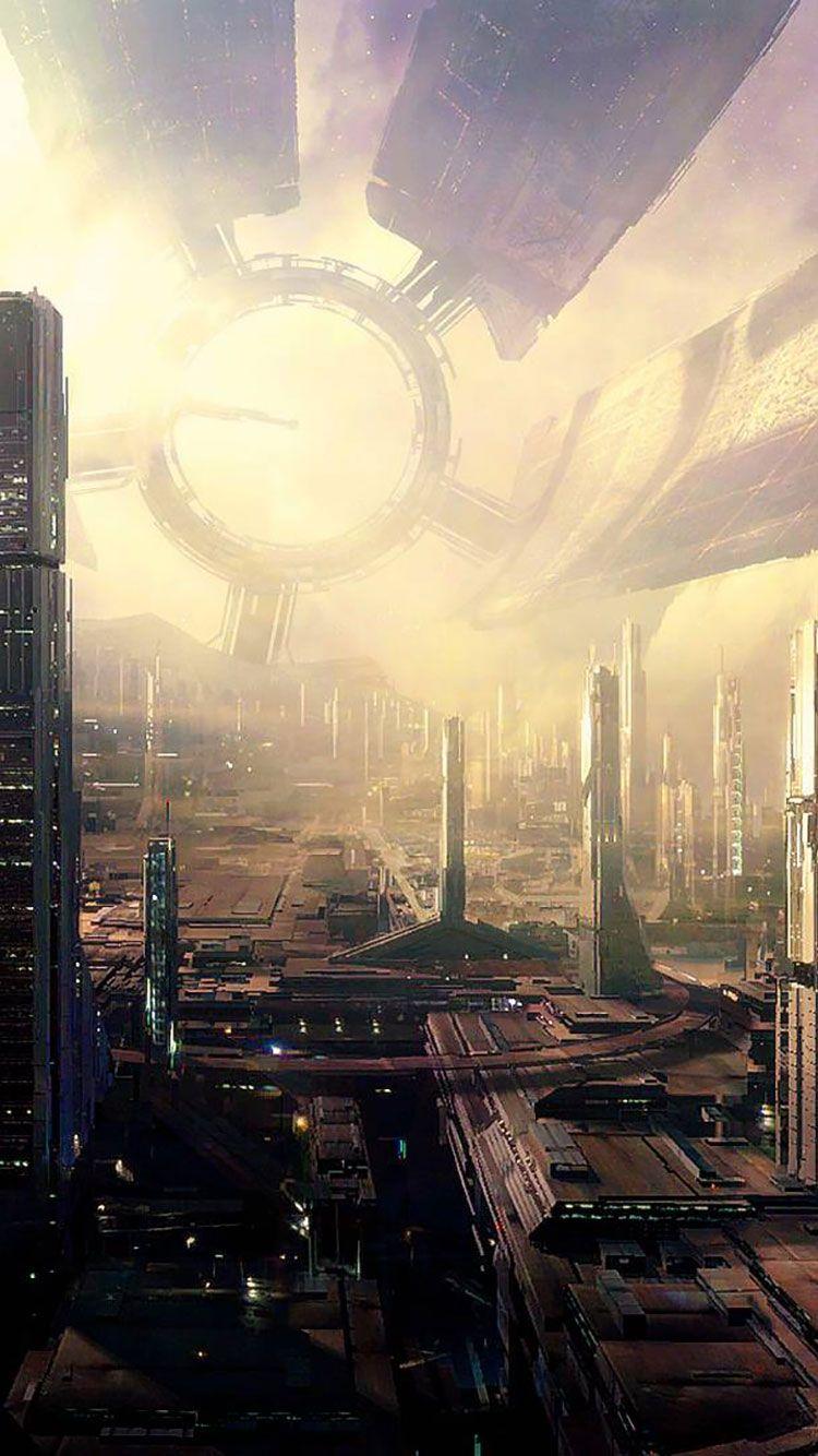 50 Futuristic City Iphone Wallpapers Oboi Nauchnaya Fantastika