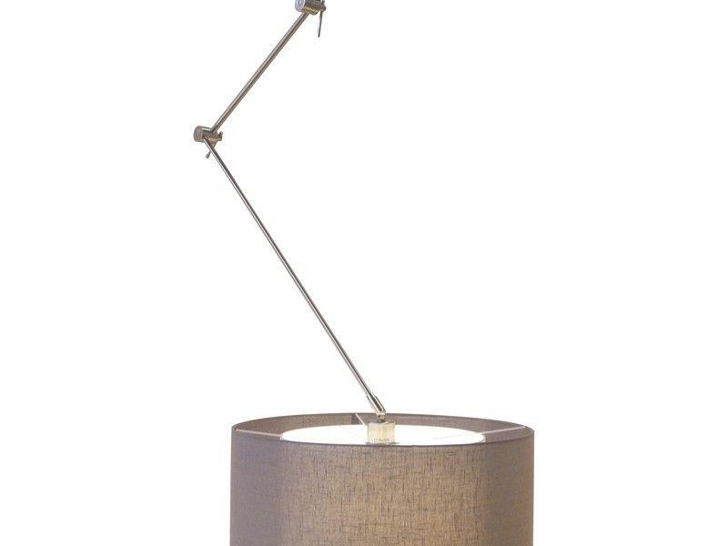 Flexi solo hanglamp met linden kap antraciet verlichting