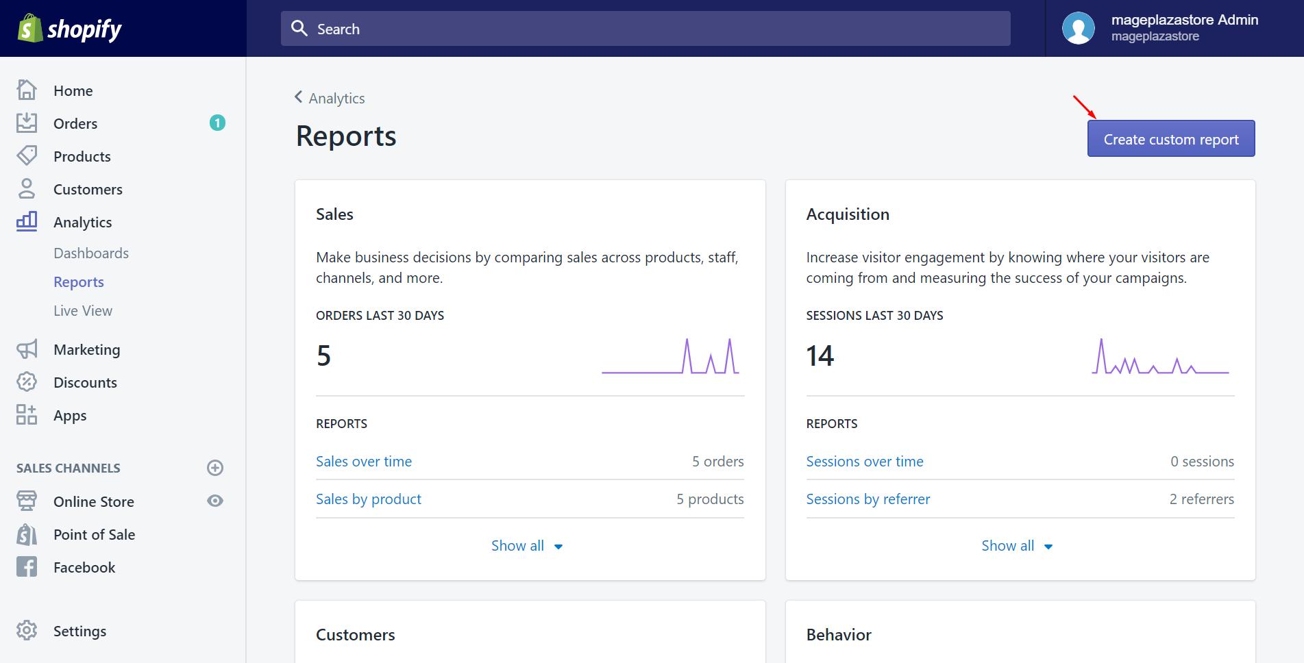 Custom Reports Make business, Analytics dashboard