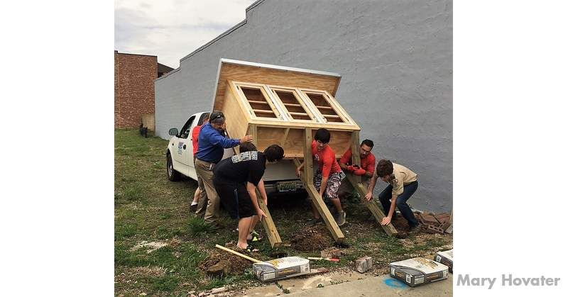 Cullman's Boy Scout Troop 321 installed the pantry on a donated vacant site next to the Mary Carter hardware store on Fourth Street Southeast.