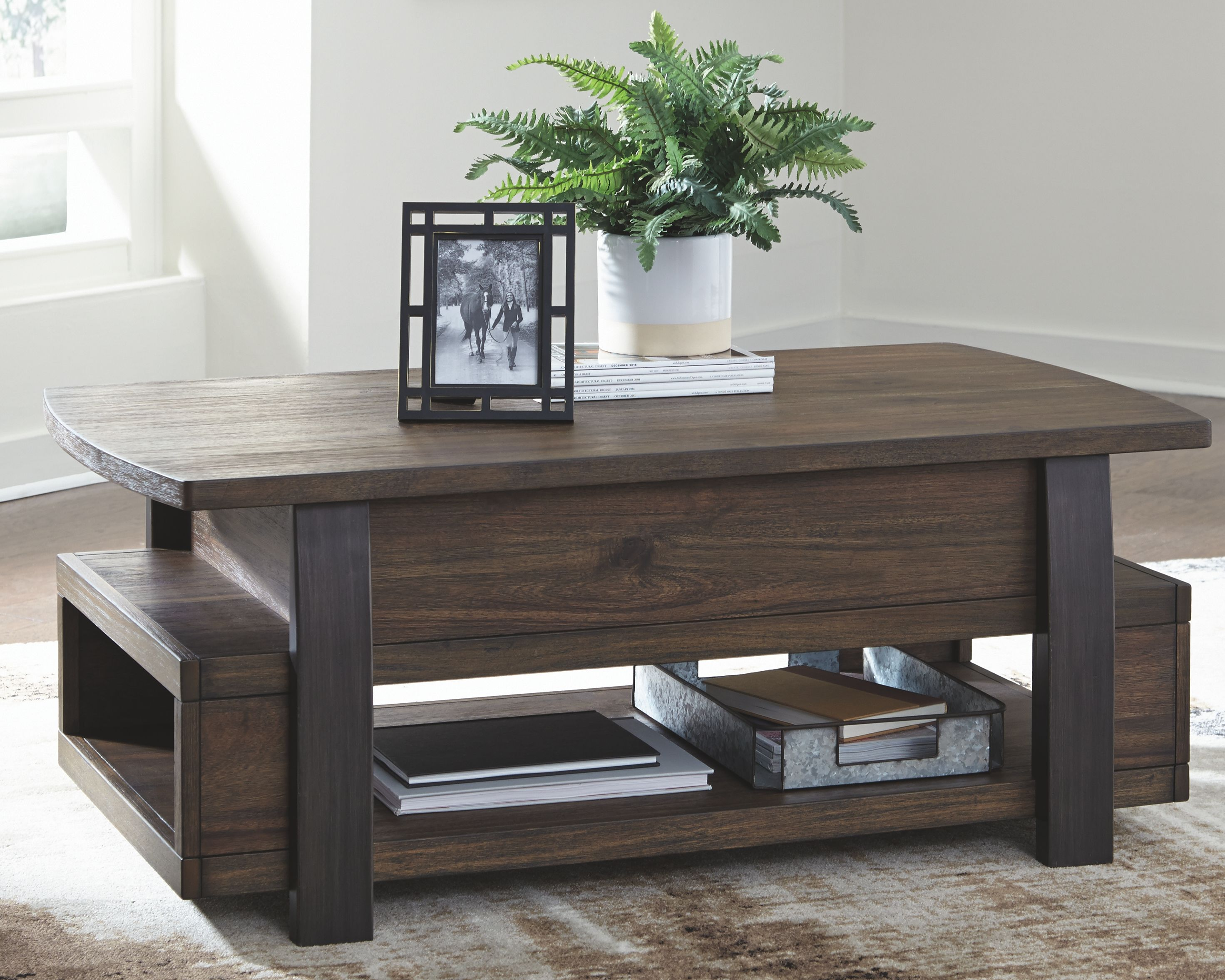 Vailbry Coffee Table With Lift Top Ashley Furniture Homestore In 2021 Coffee Table Lift Top Coffee Table Coffee Table With Storage [ 2355 x 2943 Pixel ]