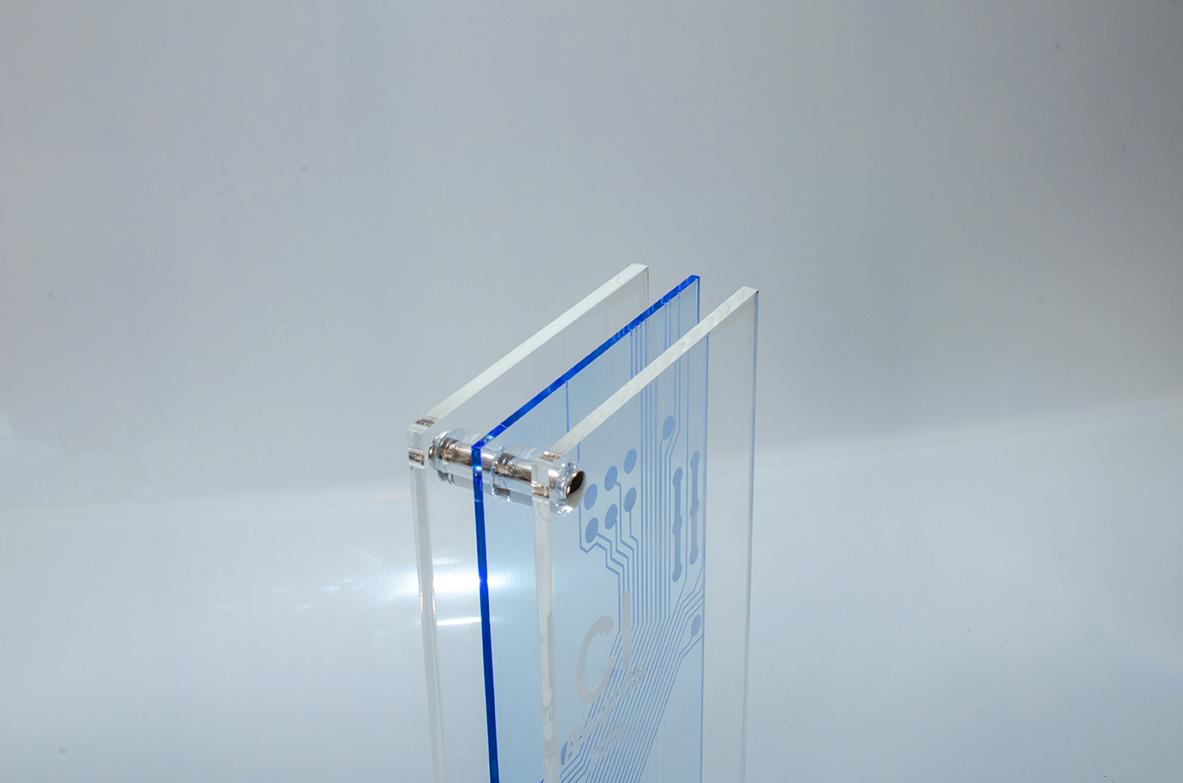Visolaser Acryl Plexiglas Tombstone Award Acryl Acrylglas Projekt Planung