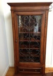 Tuscany Wine Cabinet By Ethan Allen. Handsome Ethan Allen Cabinet With Hand  Forged Grill. Holds 25 Bottles Of Wine With Room At The Top For Wine  Glasses.