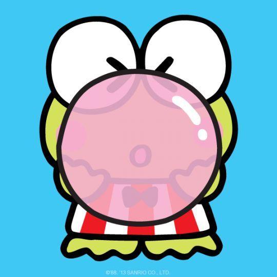 Keroppi Bubble Gum Ilustrasi Karakter Lucu Kartun