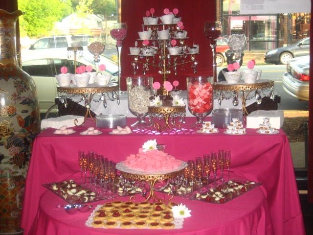 Pictures Of Candy Bars At Wedding Receptions