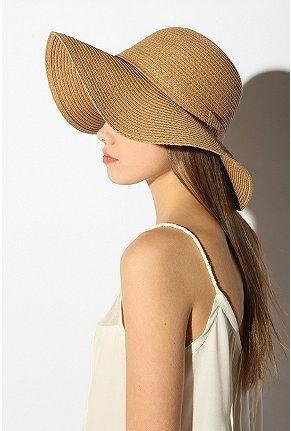 ff512a54a Pins and Needles Basic Straw Floppy Hat | SUMMER | Floppy straw hat ...