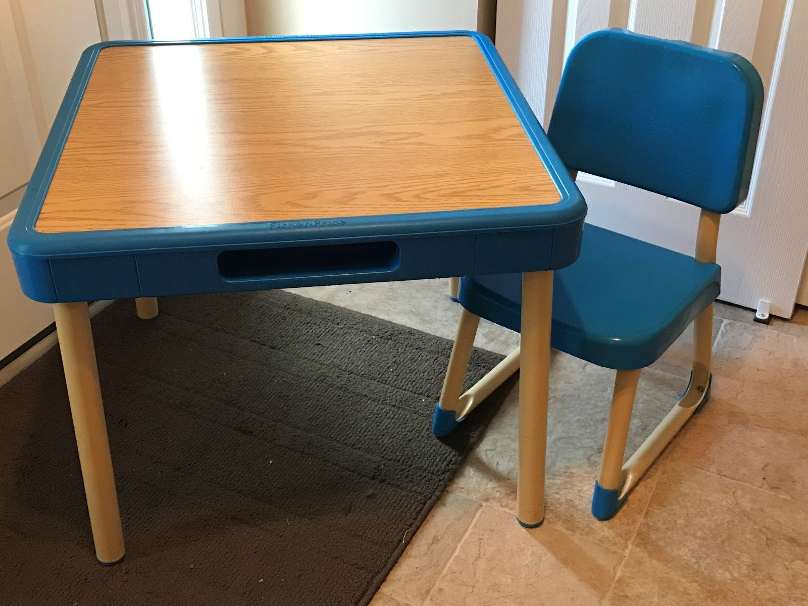 Fisher Price Vintage 1985 Arts And Crafts Table And Chair Set Child