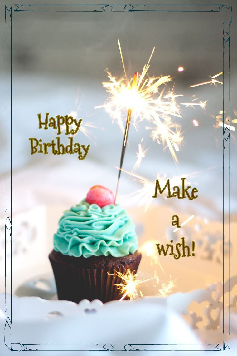 Happy Birthday cupcake sparkler Happy birthday cupcakes