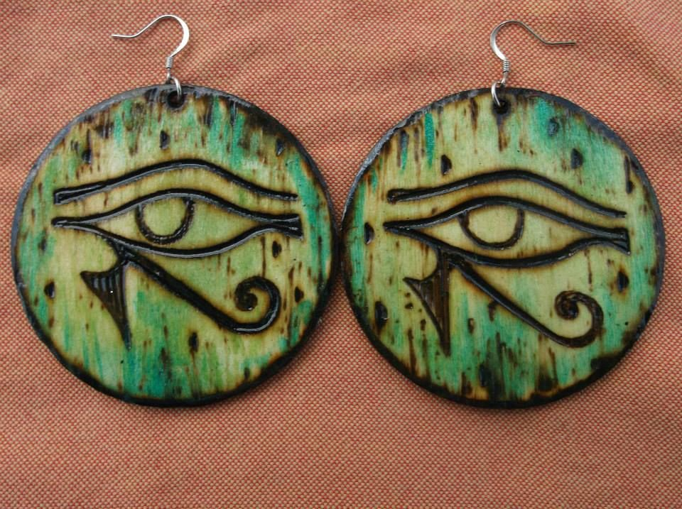 The Eye Of Horus Custom Wood Burned And Hand Painted Art For Your