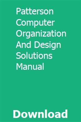 Handbuch für die Organisation und Entwicklung von Patterson-Computerlösungen download pdf