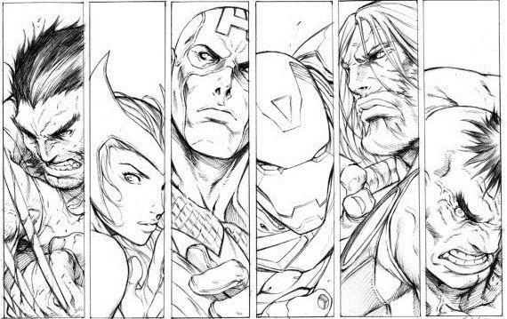 Marvel Heroes Black And White Marvel Coloring Avengers Coloring Avengers Coloring Pages