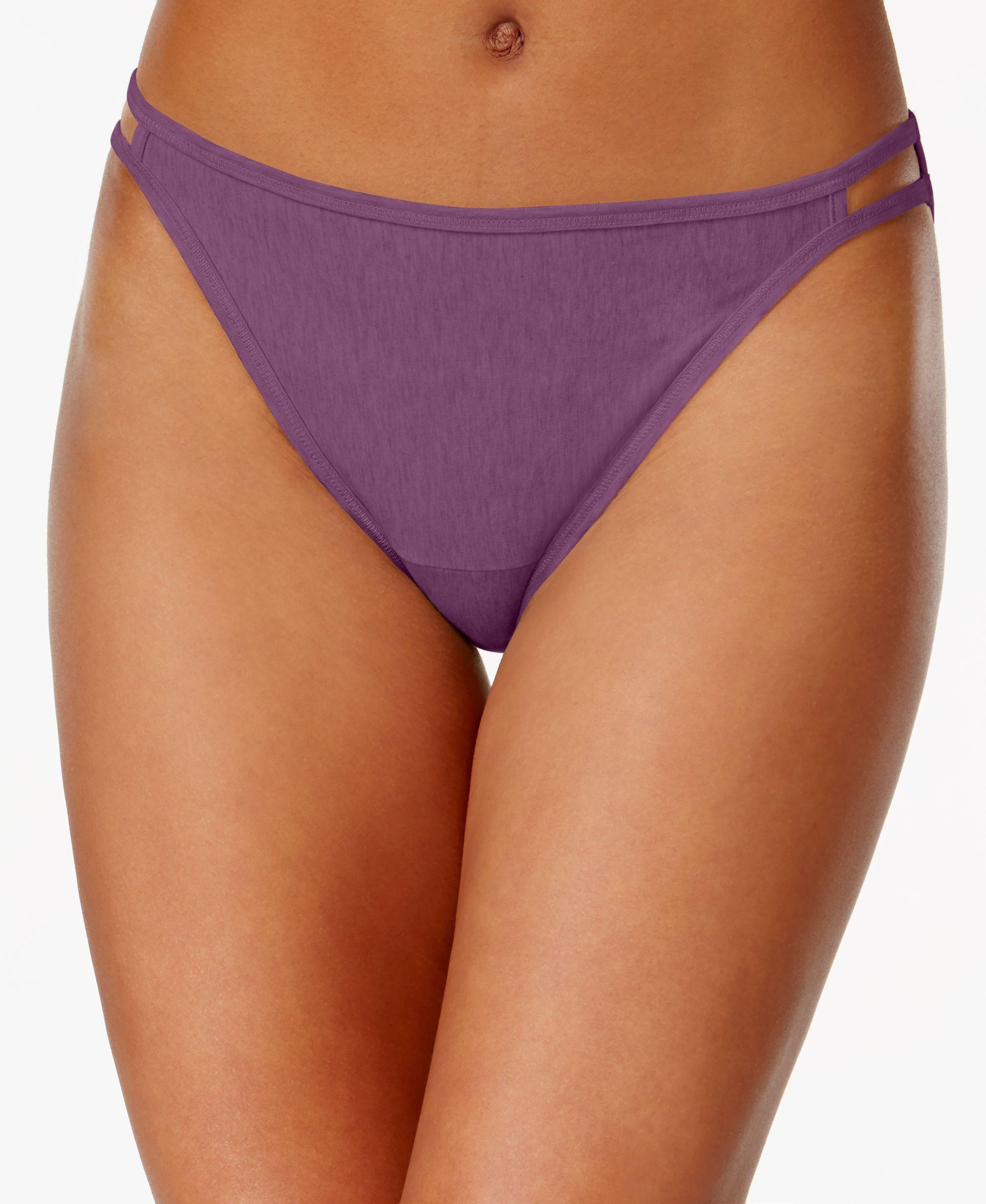 4cc9bde2e68cb Vanity Fair Illumination Heathered Cotton Bikini 18315 - Lingerie    Shapewear - Women - Macy s