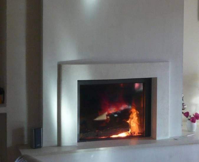 Création d\'une cheminée avec foyer Stuv 21/75 à Chateauneuf | Pour ...