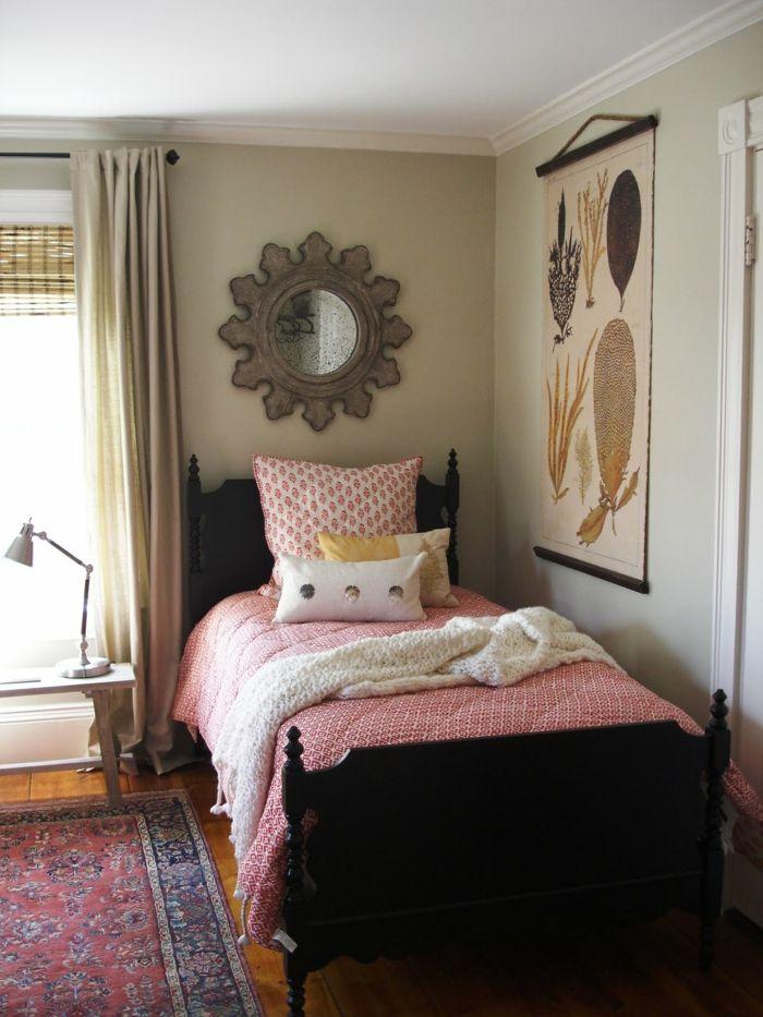 kleines gästezimmer einrichtungsideen behaglich teppich lange - schlafzimmer einrichten ideen