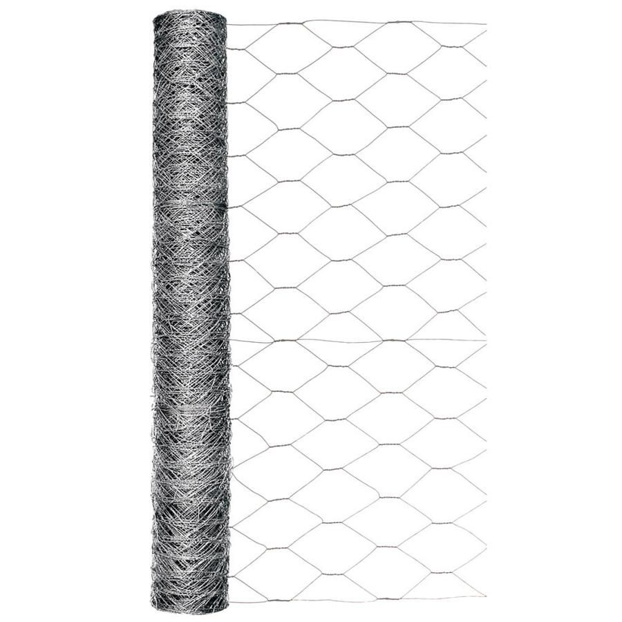 Garden Zone Gray Steel Poultry Netting Common 50 X 2 Actual 50