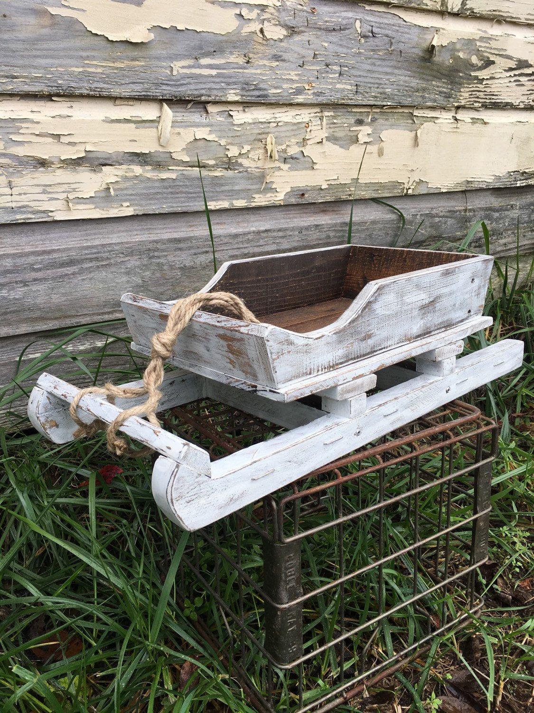 Wooden Sleigh Rustic Sleigh Santa S Sleigh Wood Sled By