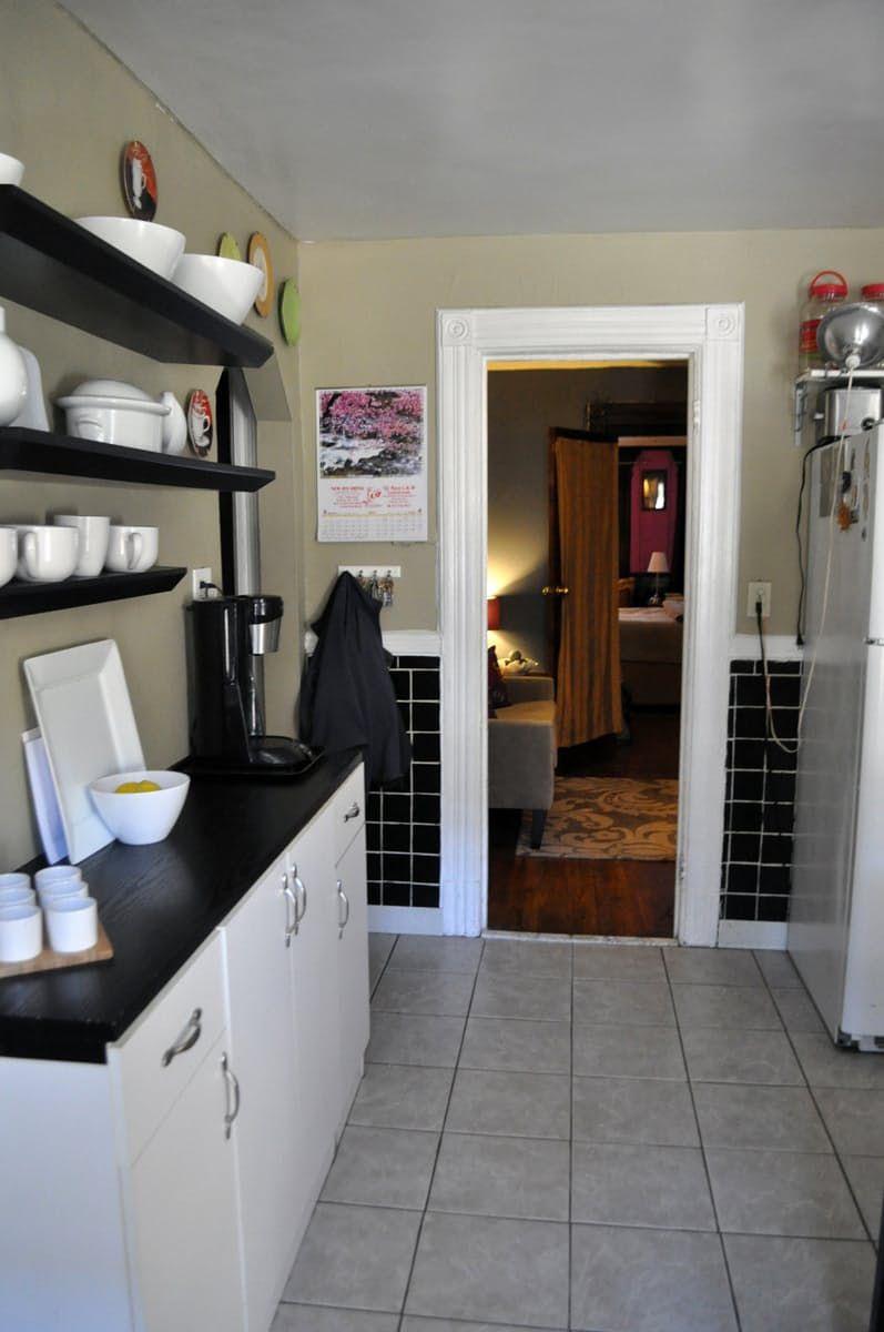 Alex's Cozy Garden Apartment in Brooklyn | Narrow cabinet ...