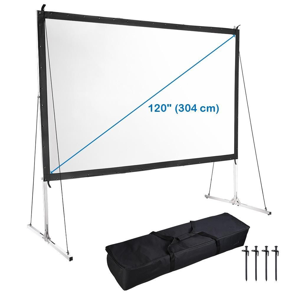 Portable Freestanding Front Projector Screen W Legs 120 16 9 Projector Screen Projector Screen Stands