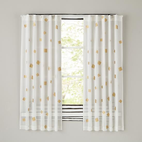 gold confetti curtain panels in new curtains the land of nod