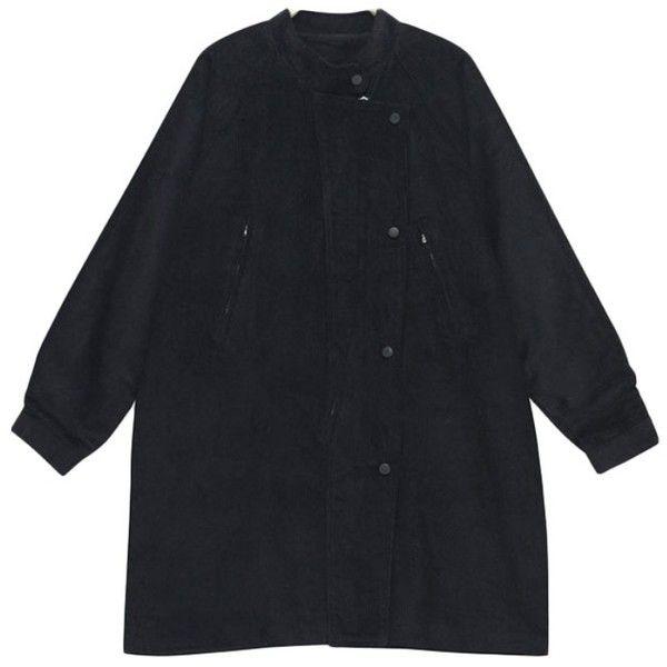 Corduroy Longline Zipper Jacket (77 AUD) ❤ liked on Polyvore featuring outerwear, jackets, zip jacket, cordoroy jacket, zipper jacket, corduroy jacket and long line jacket