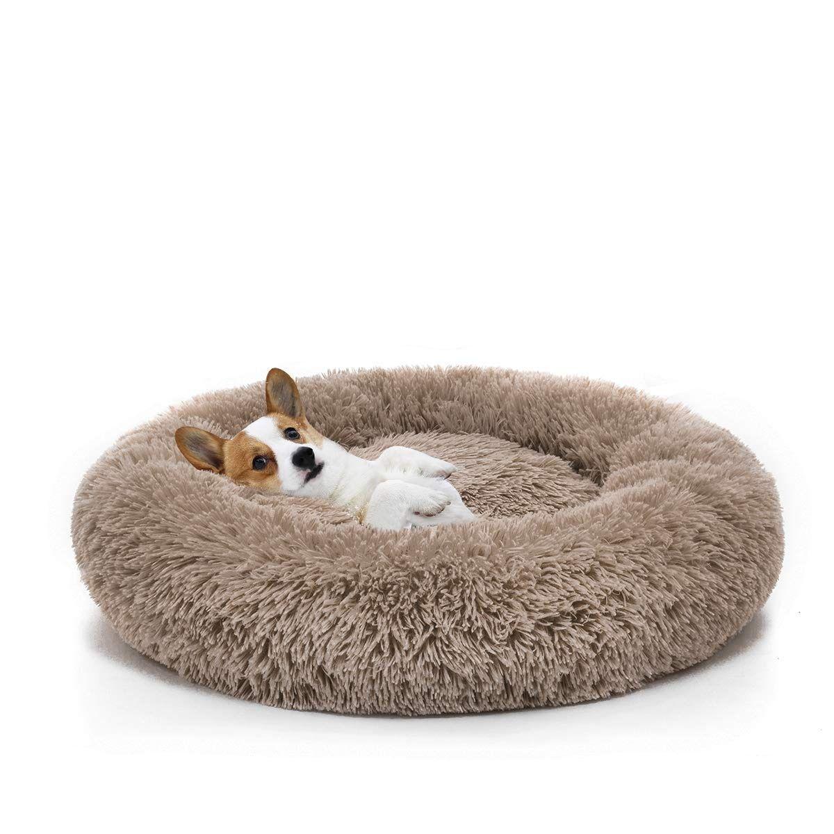 Mixjoy Orthopedic Dog Bed Comfortable Donut Cuddler Round Dog Bed Ultra Soft Washable Dog And Cat In 2020 Orthopedic Dog Bed Round Dog Bed Cat Bed