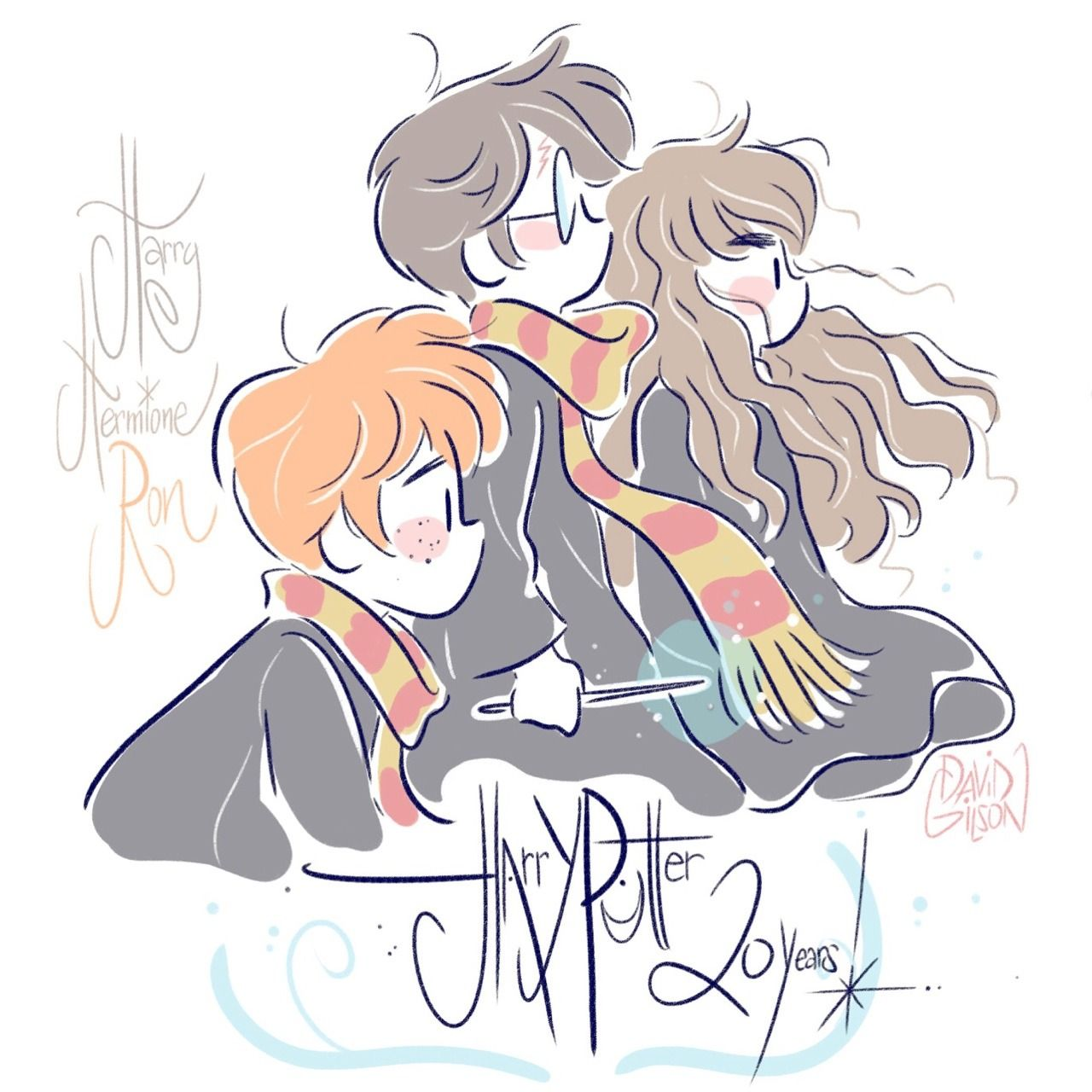 Harry Potter 20th anniversary Drawing by David Gilson # ...