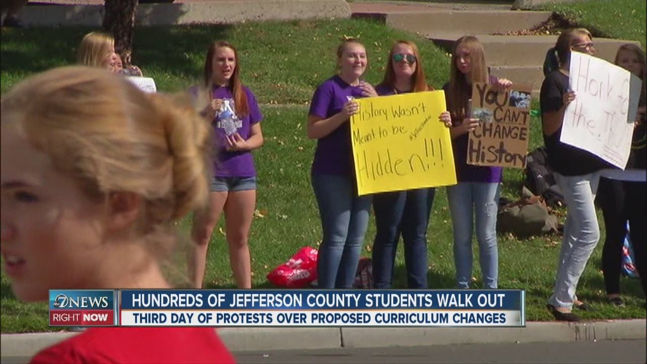 JeffCo students walk out of 5 schools in protest This video gives you faith for this new generation. They won't be brain-washed by conservative censors.