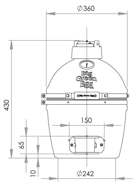 Big Green Egg Dimensions   Google Search