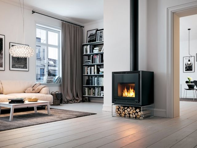 Chauffage dix id es pour mettre en valeur son po le po le flamme et notr - Remplacer cheminee par poele ...