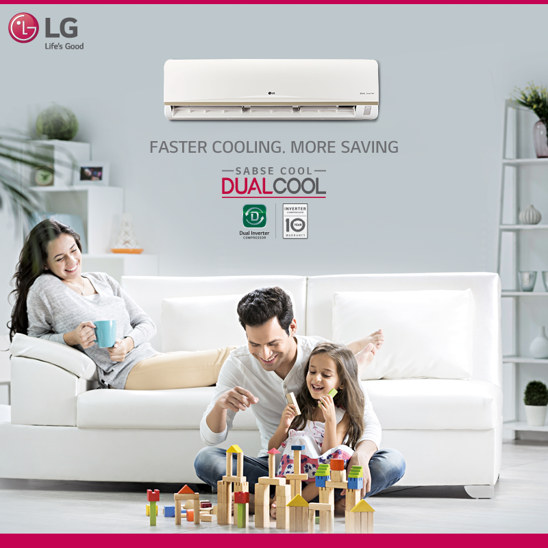 Experience Comfort And Save Every Day Lg Airconditioner With Dual Inverter Compressor Lets You Maintain Air Conditioning Design Ads Creative Air Conditioner