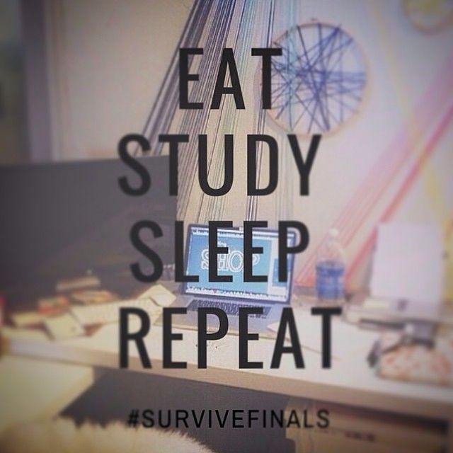 Eat Sleep Study Repeat // Follow Us @motivation2study For