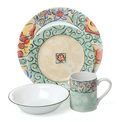 Corelle Watercolors 32-Piece Dinnerware Dishes Set Service for 8 NEW FREE SHIP  sc 1 st  Pinterest & Corelle Watercolors 32-Piece Dinnerware Dishes Set Service for 8 NEW ...