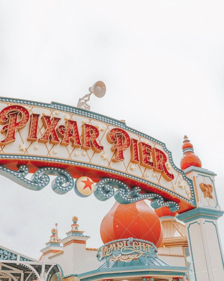 Pixar Pier Disneyland Iphone Wallpaper Disney Wallpaper Disney Day