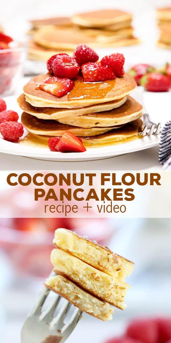 Fluffy coconut flour pancakes recipe coconut flour pancakes fluffy coconut flour pancakes ccuart Gallery