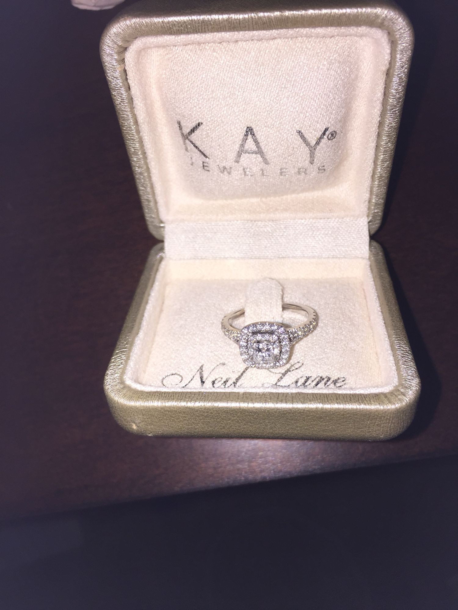 My Ring Neil Lane Double Halo A Better Picture Of It