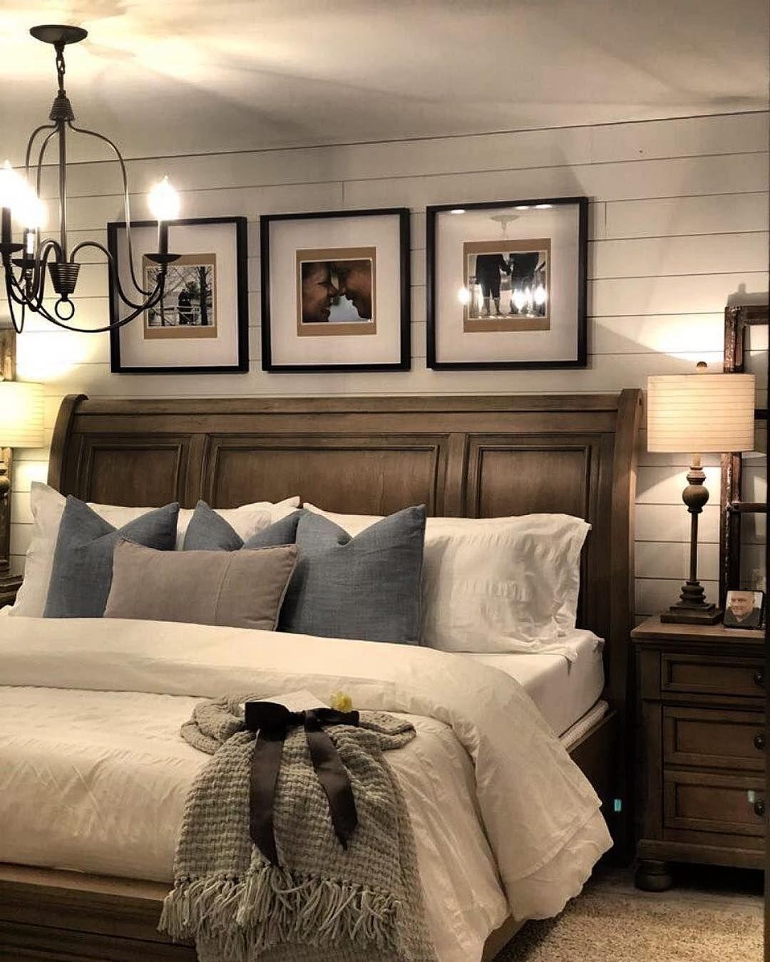 "50 Cozy Farmhouse Master Bedroom Remodel Ideas: Farmhouse Fanatics On Instagram: ""Tag Someone That You"